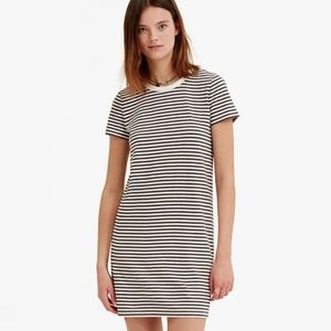 Lou and Grey Pink and White Striped T Shirt Dress
